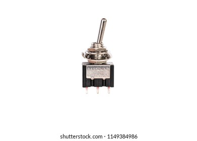 toggle DC switch isolated on white background with clipping path