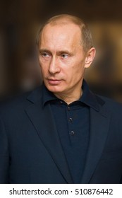 Togliatti, RUSSIA - March 30, 2009: Prime Minister of Russia Vladimir Putin during his visit to Togliatti and AVTOVAZ. The President of Russian Federation Vladimir Putin