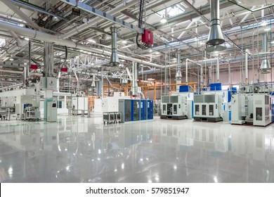 TOGLIATTI, RUSSIA - NOVEMBER 21, 2016: New manufactured engines on assembly line in a car factory. Production of engines and transmissions in the workshop H-4 for LADA in AVTOVAZ Factory Togliatti