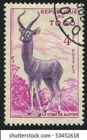 TOGO - CIRCA 1957: stamp printed by Togo, shows gazelles, circa 1957.