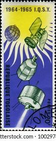 TOGO - CIRCA 1967: Stamp rinted in Togo honoring Study of Space, circa 1967