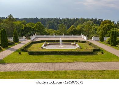Toila-Oru park in Estonia. Former residence of the first president of Estonia,