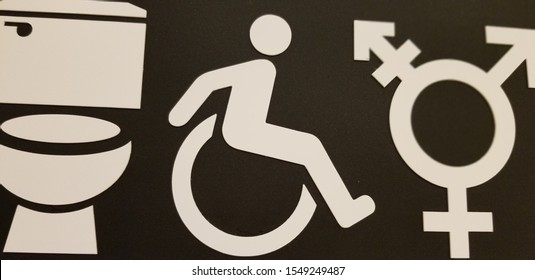 Toilet accessible to all including male, female, disabled,and gender neutral