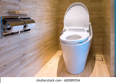 Toilet bowl and interior decorative