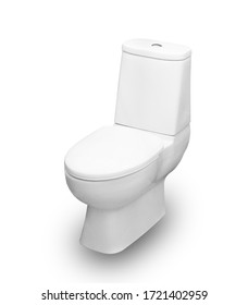 Toilet bowl isolated on white background, This has clipping path.