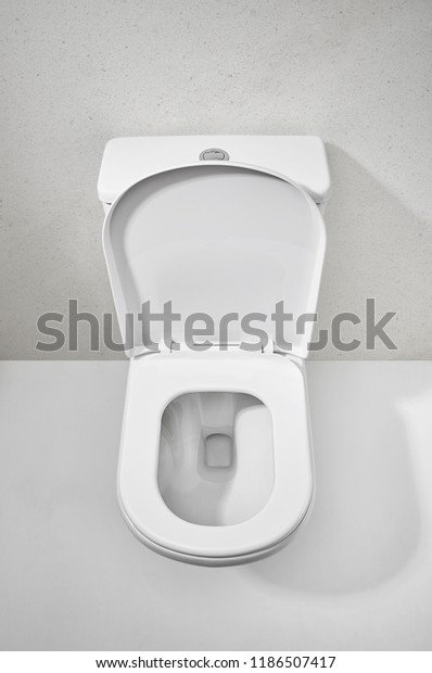 Outstanding Toilet Bowl View Top Open Seat Royalty Free Stock Image Beatyapartments Chair Design Images Beatyapartmentscom