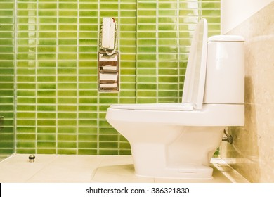 Toilet decoration interior of toilet room - Vintage light Filter