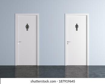 public bathroom doors. Toilet Doors For Male And Female Genders Public Bathroom O
