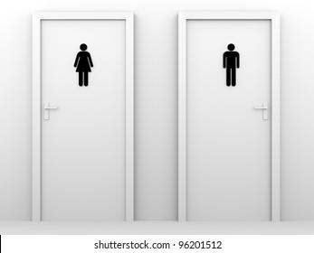 toilet doors for male and female genders. & Bathroom Door Images Stock Photos \u0026 Vectors | Shutterstock