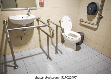 Toilet with friendly design for people with disability