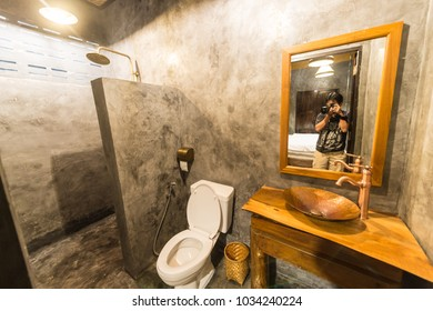 Toilet interior in classic style