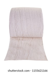 toilet paper close-up on white isolated background