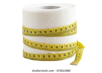 Toilet paper: diet, fitness and weight loss concept