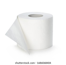 Toilet paper isolated on white background.