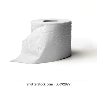 toilet paper isolated on white background (incl. clipping path )