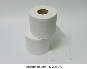 Toilet paper. Isolated on a white background.