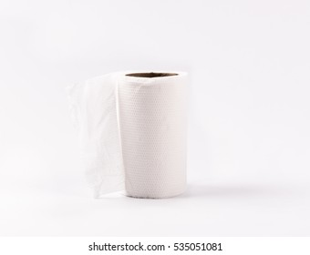 Toilet- paper isolated on white background.
