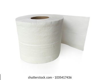 toilet paper, tissue paper roll isolated on white background