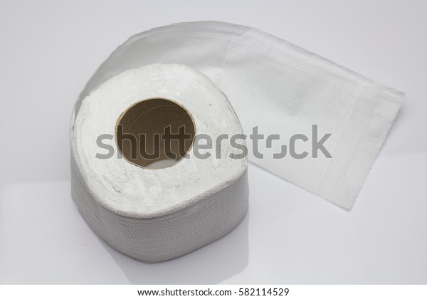 toilet paper,tissue paper roll isolated on white background