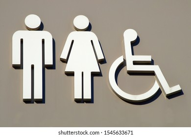 toilet pictogram man lady handicap restroom icon