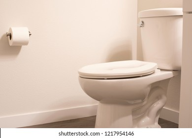 Toilet shot in a modern gray scale bathroom