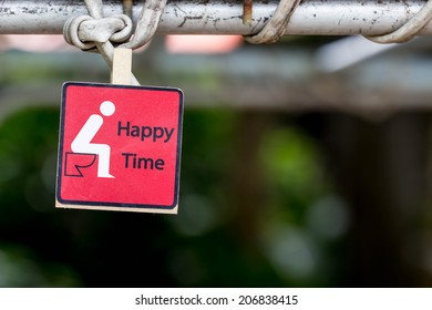 Toilet sign and direction,happy time