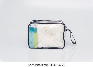 toiletries in bags for travel