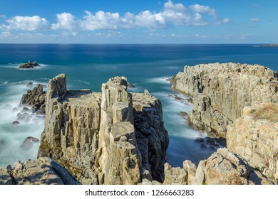 Tojinbo is a series of basaltic cliffs on the Sea. Fukui prefecture, Japan