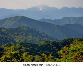 Tokai Nature Trail that runs through the mountains of Yamanashi Prefecture.