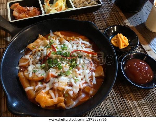 Tokbokki Sticky Rice Bite Traditional Korea Stock Photo Edit Now