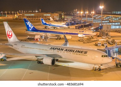 TOKONAME, JAPAN - MAY 13: Chubu Centrair International Airport in Japan on May 13, 2016. Chubu Centrair International Airport is the main international gateway for the Chubu region of Japan.