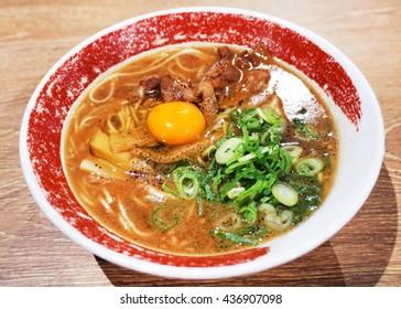 TOKUSHIMA Ramen : Rich Tonkotsu Soy-sauce Ramen that is the local taste of TOKUSHIMA.