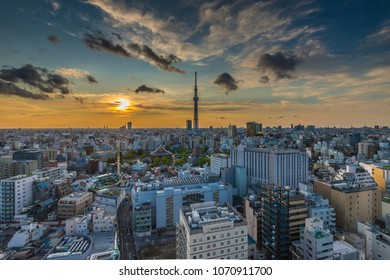 TOKYO - APR.6: With over 35 million people, Tokyo is the world's most populous metropolis and is described as one of the three command centers for world economy April 6, 2018 in Tokyo, Japan