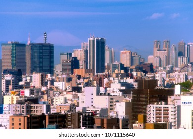 TOKYO - APR.7: With over 35 million people, Tokyo is the world's most populous metropolis and is described as one of the three command centers for world economy April 7, 2018 in Tokyo, Japan