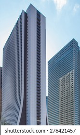 TOKYO - APRIL 4, 2014: Sompo Japan building on April 4, 2014 in Shinjuku ward, Tokyo. Completed in 1976, this 43-story tower houses the headquarters of Sompo Japan Insurance company.