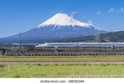 TOKYO - April 7: Shinkansen bullet train at Tokyo railway station in Apr 7, 2014 Tokyo, Japan.Shinkansen is world's busiest high-speed railway operated by four Japan Railways companies.