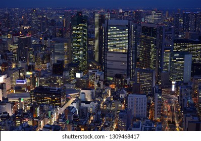 Tokyo city at night, Tokyo Japan
