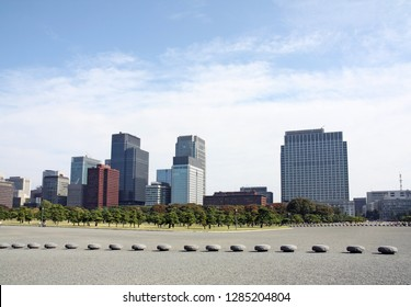 Tokyo city skyline of finance area and business center in town, Japan