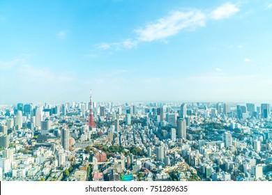 Tokyo city skyline with Tokyo Tower, Tokyo Japan