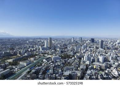 Tokyo Cityscape Landscape View Naka Meguro Shibuya Daikanyama Setagaya Ward Meguro-ku