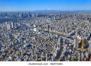 Tokyo Cityscapes  and Mount Fuji
