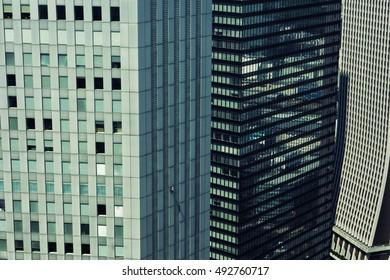 Tokyo - Detail of skyscrapers . Shinjuku 2016.