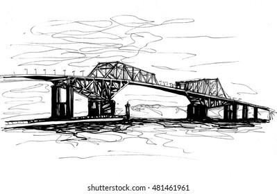 Tokyo Gate Bridge sketch