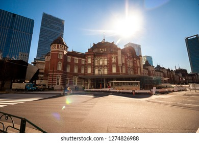 Tokyo January 16, 2017 : tokyo station, a railway station in the Marunouchi business district of Chiyoda, Tokyo, Japan.