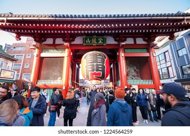 Tokyo January 19, 2017 : Sensoji Temple in Tokyo. Asakusa Temple is one of Tokyo Landmark and it's the most significant Buddhist temples located in Asakusa area.