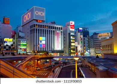 Tokyo, Japan, 04/18/2017, Ueno district in the evening. Ueno district is one of the oldest districts of Tokyo. Despite the emergence of new shopping centers, the atmosphere of ancient Tokyo.