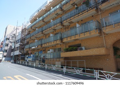 tokyo, japan, 05 08 2017 : residence area located between daikanyama and shibuya