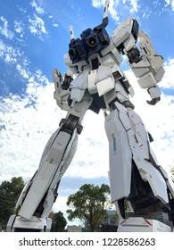 Tokyo, japan 1 Nov,2018 : Gundam Back at Diver City Tokyo Plaza in Odaiba area, Tokyo