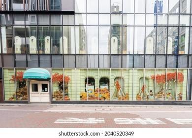 TOKYO, JAPAN - 10 September 2021:Exterior of Qu'il fait bon Grand Maison Ginza