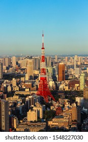 Tokyo, Japan - 12 May 2016: Viewpoint overlooking the Tokyo Tower
